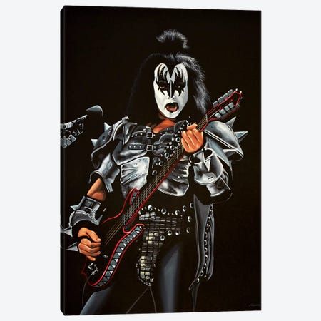 Gene Simmons KISS Canvas Print #PME72} by Paul Meijering Canvas Art