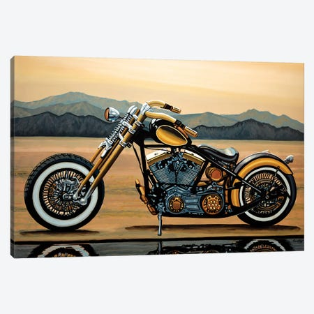 Harley Davidson 3-Piece Canvas #PME75} by Paul Meijering Canvas Print