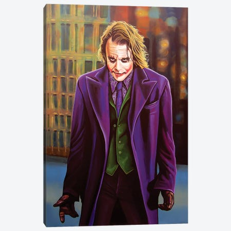 Heath Ledger Canvas Print #PME76} by Paul Meijering Canvas Print
