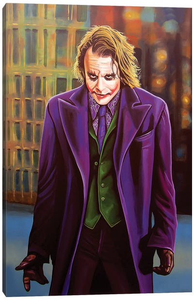Heath Ledger Canvas Art Print