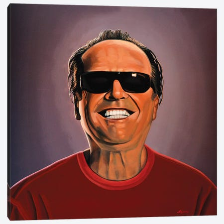 Jack Nicholson II Canvas Print #PME78} by Paul Meijering Canvas Artwork