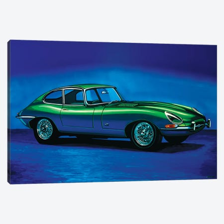Jaguar E Type 3-Piece Canvas #PME80} by Paul Meijering Art Print