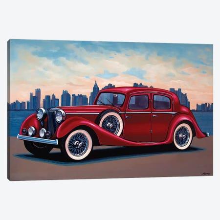 Jaguar SS Saloon Canvas Print #PME81} by Paul Meijering Canvas Art Print