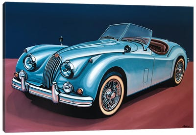 Jaguar Xk140 Cabrio Canvas Art Print