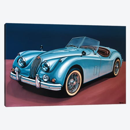Jaguar Xk140 Cabrio 3-Piece Canvas #PME82} by Paul Meijering Canvas Print