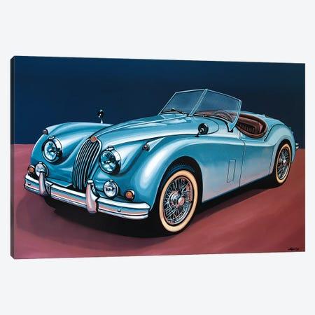 Jaguar Xk140 Cabrio Canvas Print #PME82} by Paul Meijering Canvas Print