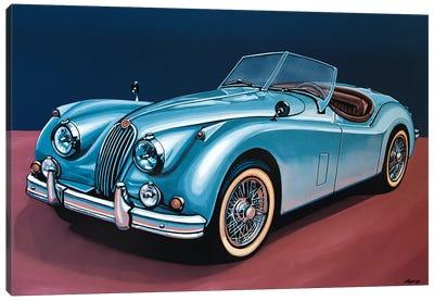 Jaguar Xk140 Cabrio Canvas Art Print