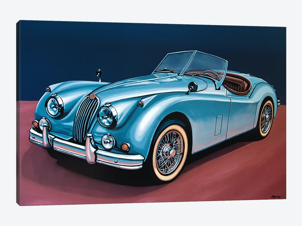 Jaguar Xk140 Cabrio by Paul Meijering 1-piece Canvas Art Print