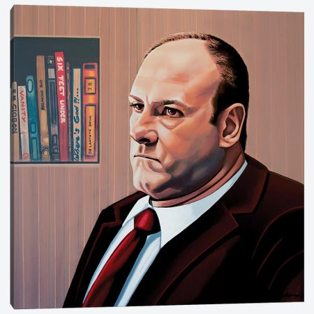 James Gandolfini Canvas Print #PME83} by Paul Meijering Art Print
