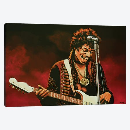 Jimi Hendrix I Canvas Print #PME88} by Paul Meijering Canvas Art Print