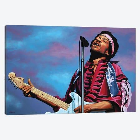 Jimi Hendrix II Canvas Print #PME89} by Paul Meijering Canvas Art Print