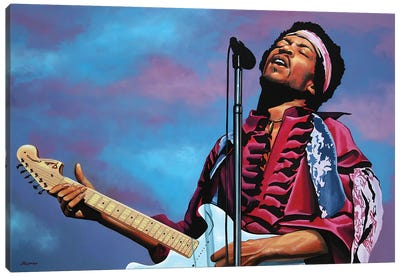 Jimi Hendrix II Canvas Art Print