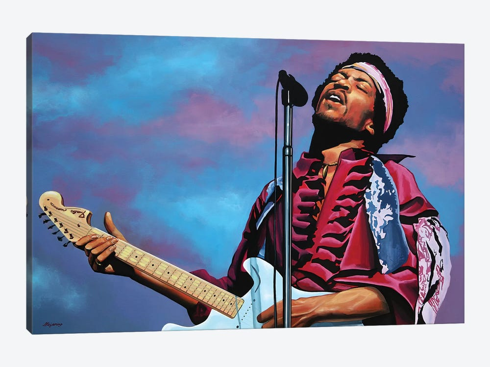 Jimi Hendrix II by Paul Meijering 1-piece Canvas Wall Art