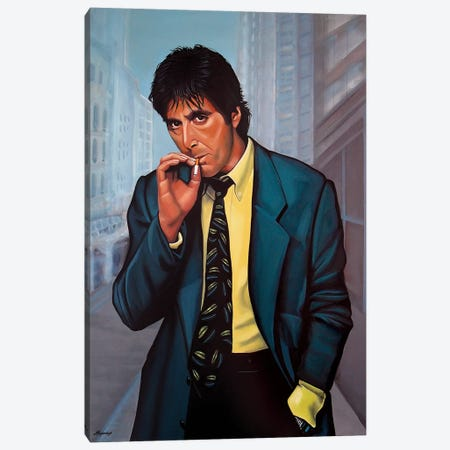 Al Pacino II Canvas Print #PME8} by Paul Meijering Canvas Wall Art