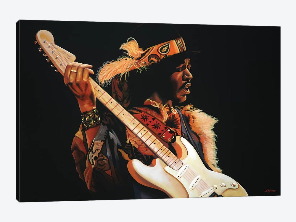 Jimi Hendrix III by Paul Meijering 1-piece Canvas Wall Art
