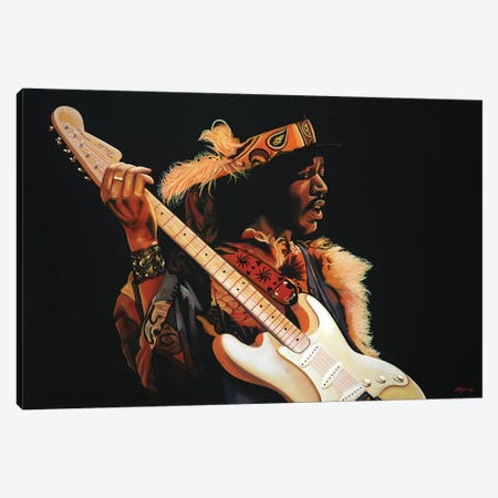 Jimi Hendrix III Canvas Print #PME90} by Paul Meijering Canvas Art