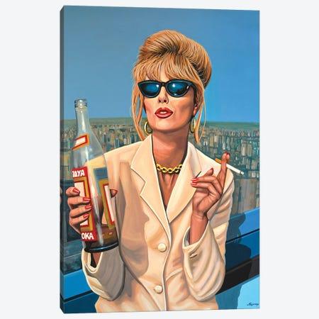Joanna Lumley Patsy Canvas Print #PME91} by Paul Meijering Canvas Wall Art
