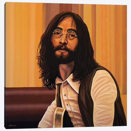 John Lennon Imagine Canvas Print #PME94} by Paul Meijering Art Print