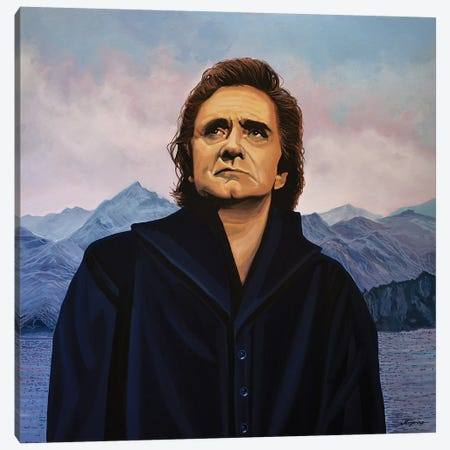 Johnny Cash Canvas Print #PME95} by Paul Meijering Canvas Art Print
