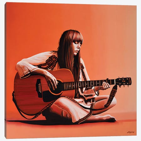 Joni Mitchell 3-Piece Canvas #PME96} by Paul Meijering Canvas Art Print