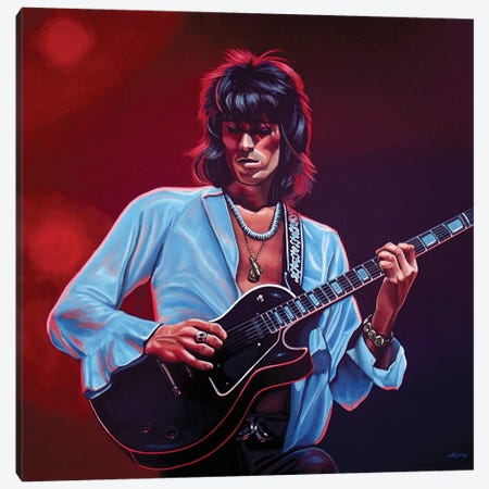 Keith Richards II Canvas Print #PME98} by Paul Meijering Canvas Art