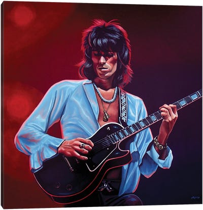 Keith Richards II Canvas Art Print