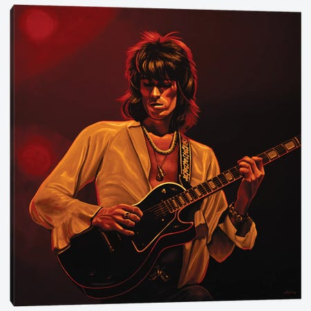 Keith Richards II  Amber Canvas Print #PME99} by Paul Meijering Canvas Art