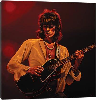 Keith Richards II  Amber Canvas Art Print