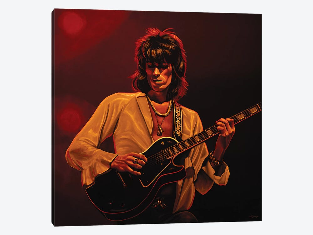 Keith Richards II  Amber by Paul Meijering 1-piece Canvas Print