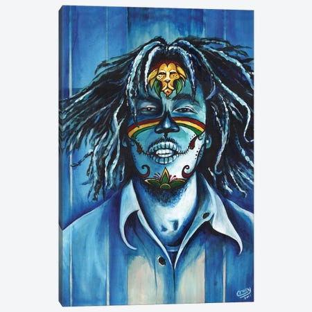 One Love Canvas Print #PMF16} by The Poet Mr. Fab Canvas Art