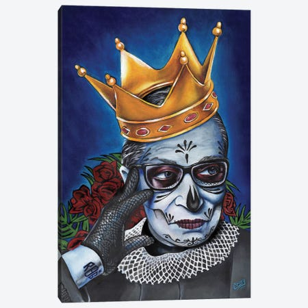 Notorious RBG Canvas Print #PMF35} by The Poet Mr. Fab Canvas Art