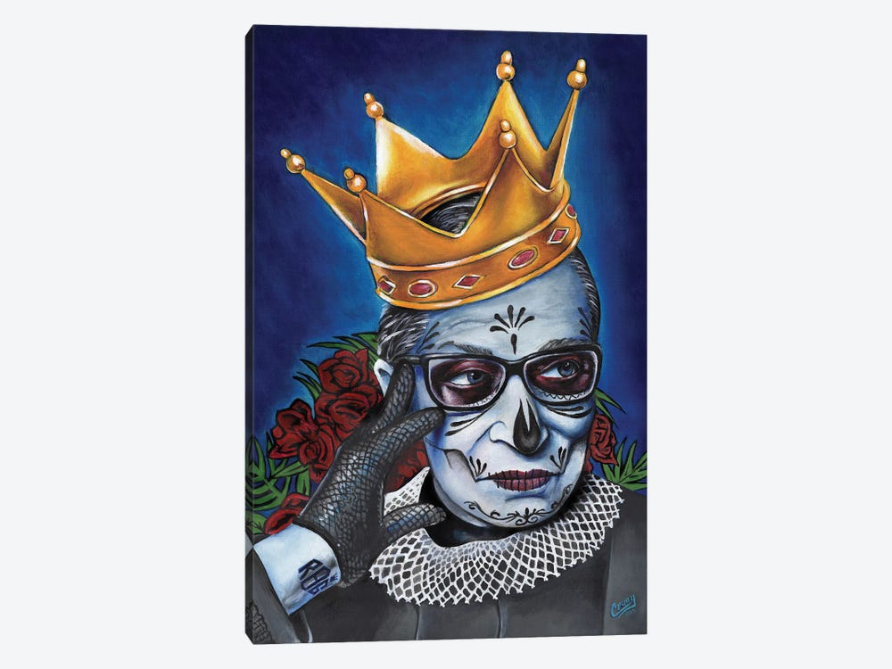 Notorious RBG by The Poet Mr. Fab 1-piece Canvas Art Print