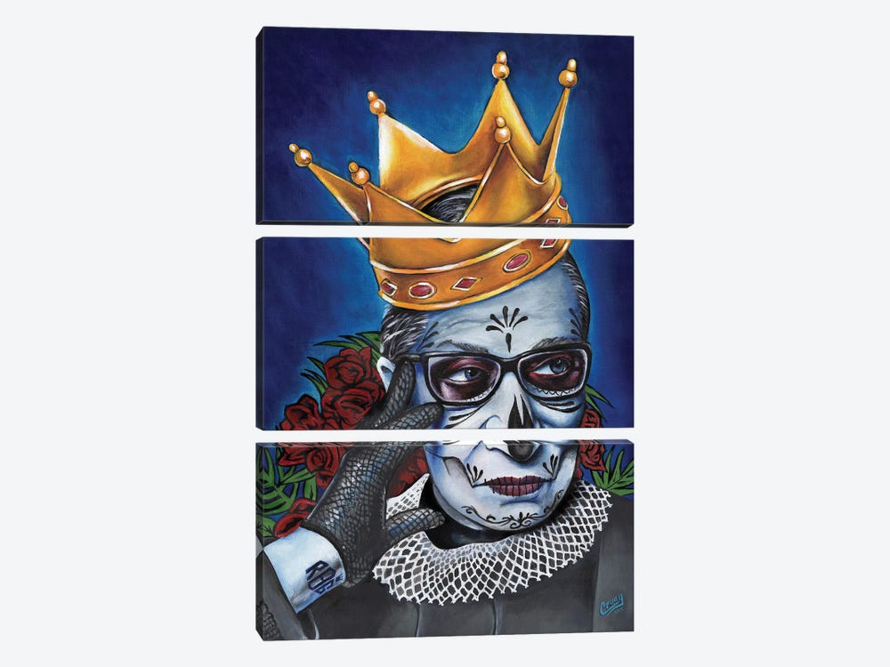 Notorious RBG by The Poet Mr. Fab 3-piece Canvas Print