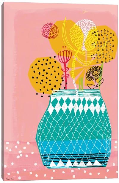 Geometric Vase Canvas Art Print