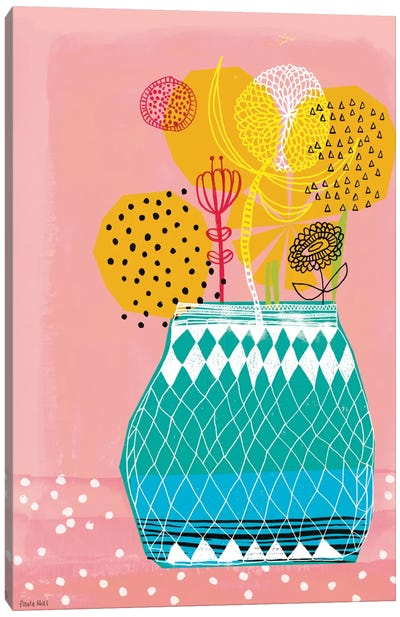 Geometric Vase Canvas Art Print