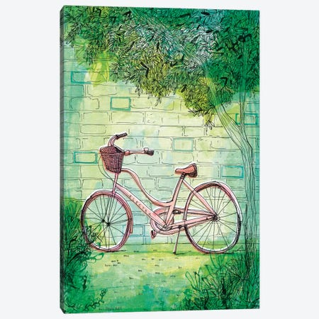 Happy Bike Canvas Print #PMI22} by Sweet William Canvas Art Print