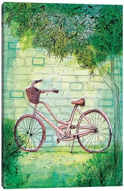 Happy Bike Canvas Art Print