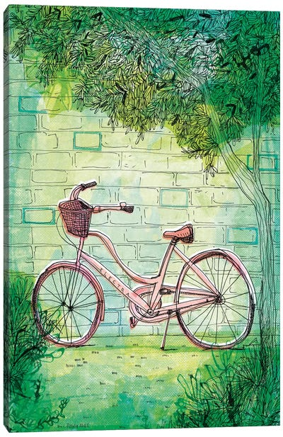 Happy Bike Canvas Art Print