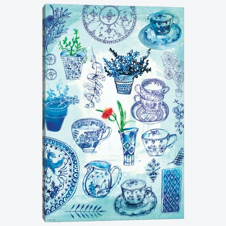 My Blue & White Collection Canvas Print #PMI27} by Sweet William Canvas Artwork