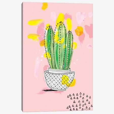 My Favourite Cactus Canvas Print #PMI28} by Sweet William Canvas Art Print