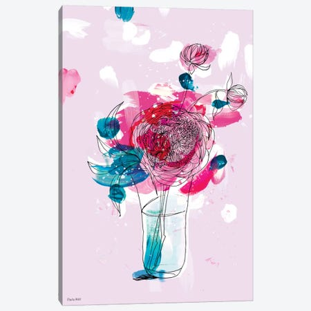 My Favourite Peony Canvas Print #PMI29} by Sweet William Canvas Art Print
