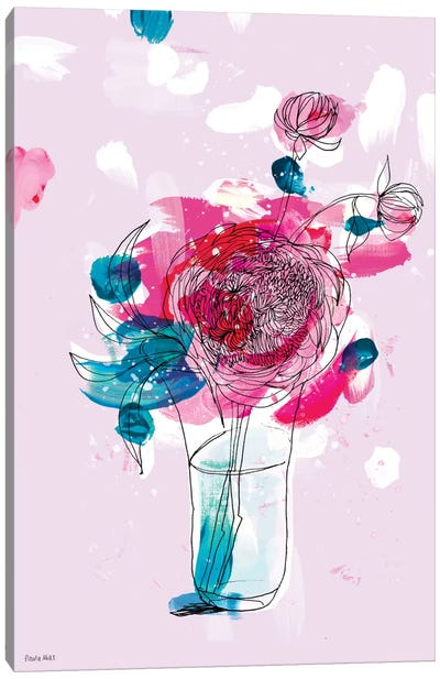 My Favourite Peony Canvas Art Print