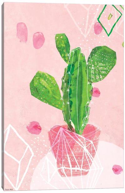 Pastel Catcus Canvas Art Print