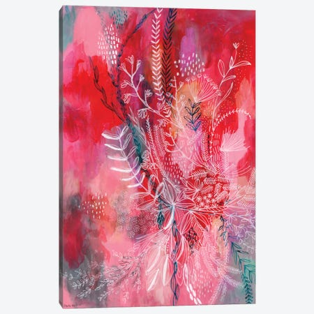Pink & Red Patterns Canvas Print #PMI38} by Sweet William Canvas Art