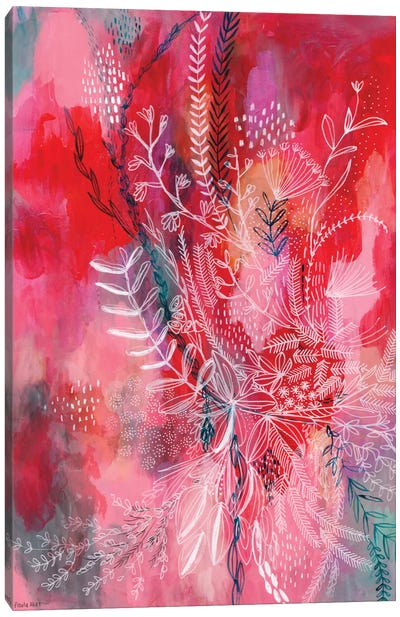 Pink & Red Patterns Canvas Art Print