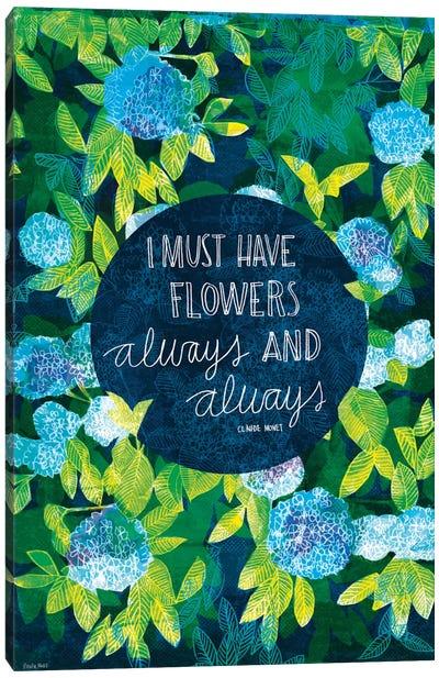 Artist Quotes Series: Claude Monet Canvas Print #PMI3