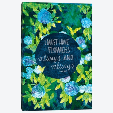 Claude Monet Canvas Print #PMI3} by Sweet William Canvas Wall Art