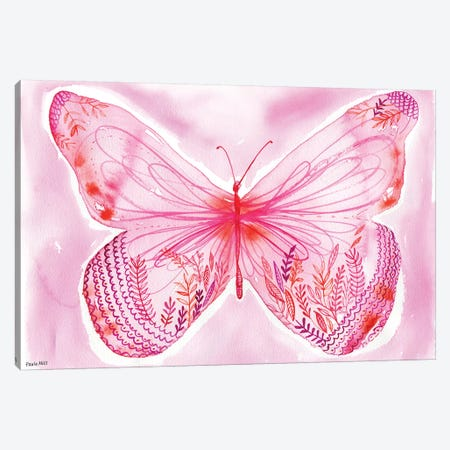 Big Pink Butterfly Canvas Print #PMI46} by Sweet William Canvas Art