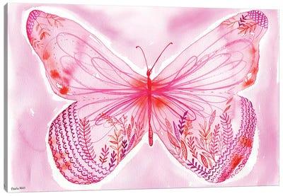 Big Pink Butterfly Canvas Art Print