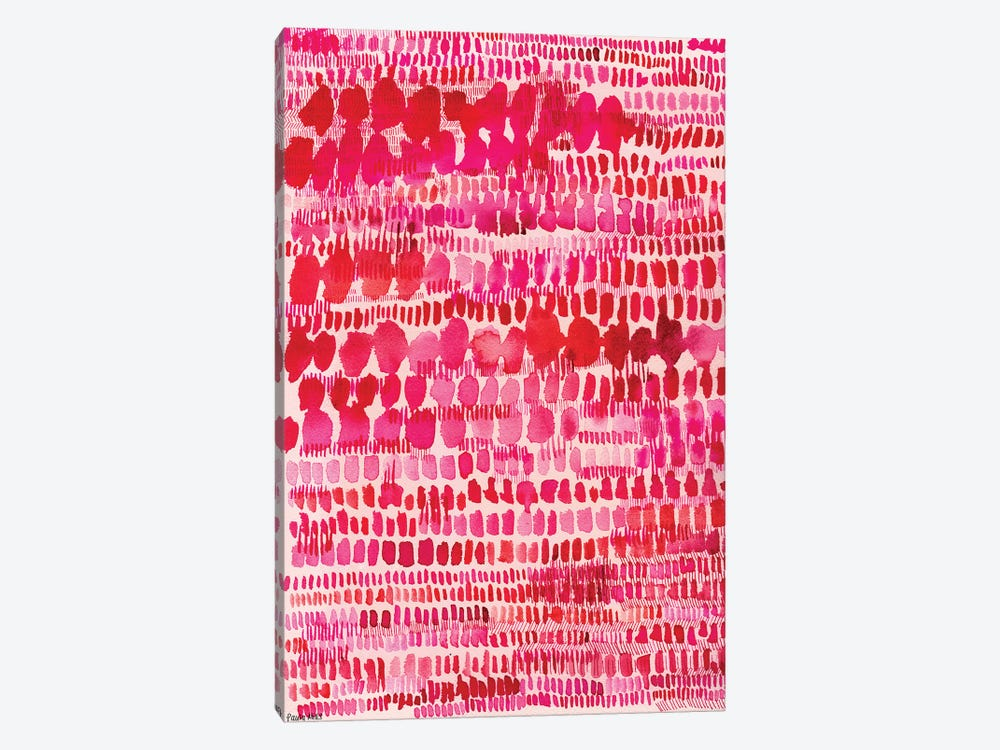 Pink And Red Water Colour Patterns by Sweet William 1-piece Canvas Artwork
